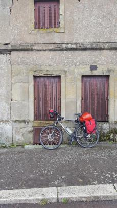 Bike parking in Autun.
