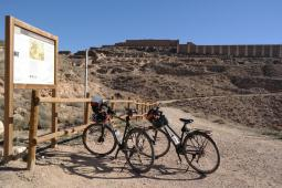 Arrival by bike.