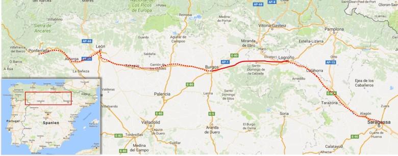 Strecke_Zaragoza-Ponferrada