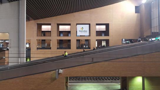 Moving stairs/ramp at Córdoba train station.