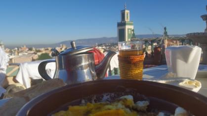 Meknes, breakfast at Riad Malaka.