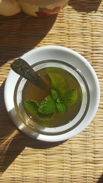 The mandatory mint tea.