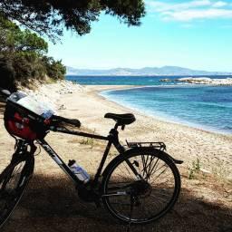 Biking to Ampurias.