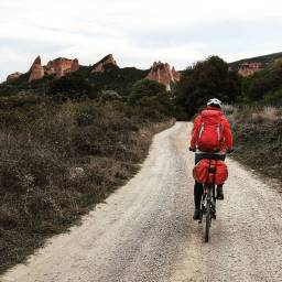 Biking to Las Medulas.