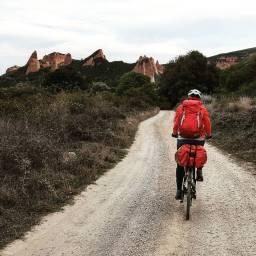 Biking to Las Medulas.