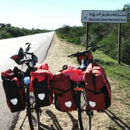 Cycling to Zilil.