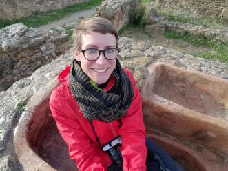 In a Punic bathtub, Kerkouane.