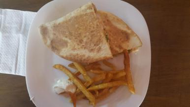 Chawarma sandwich.