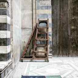 Cairo, mosque interior.