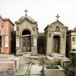 Cairo, Coptic cemetery.
