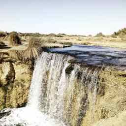 Fayyum waterfalls.