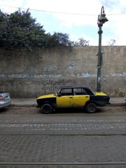Alexndria, a usual taxi.