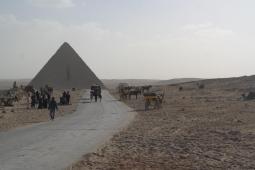 Giza, Mykerinos pyramid.