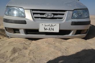 Wadi-el-Rayan: stuck in the sand.