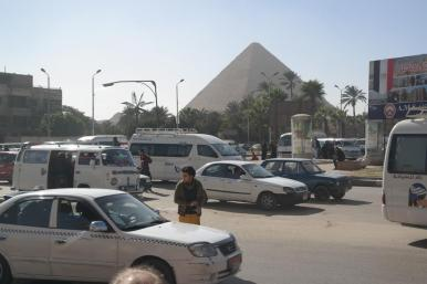 Cairo (Gizeh), street life.